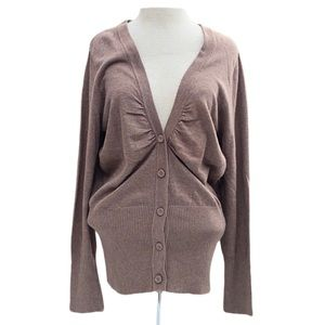 Sonoma, Brown, cardigan, XL, new with tags